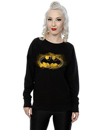 DC Comics Damen Batman Spray Logo Sweatshirt Medium Schwarz
