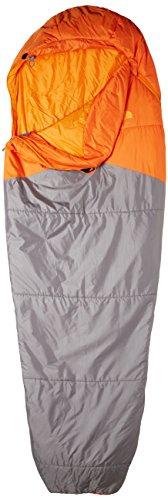 THE NORTH FACE Aleutian Light Schlafsack, Unisex, Reißverschluss Links, Langer Schlafsack, Kardinalrot/zinkgrau, Unisex, Aleutian Medium Left Hand Zip, Monarch Orange/Zinc Grey
