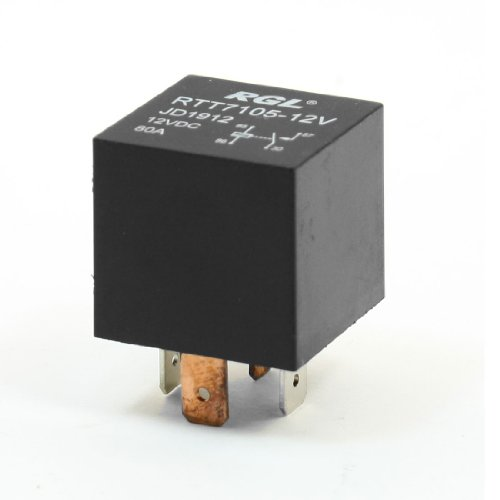 uxcell Vehicle Car Black DC 12V 80A 4 Pins Power Plug Relay RTT7105