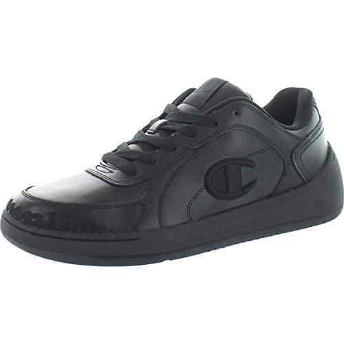 Champion Mens Super C Court Low Leather Running Sneakers Black 12 Medium (D)