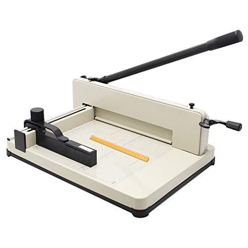 CGOLDENWALL A4 Guillotina de Papel Industrial Cortador de Papel Oficina hasta 400 Hojas de Precisión de corte: 0.02mm