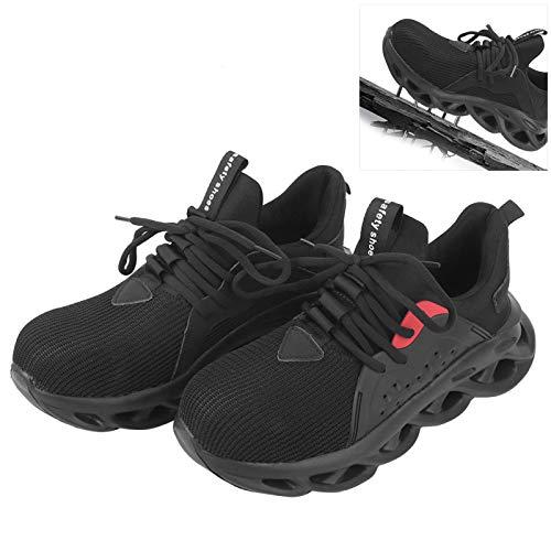 FOLOSAFENAR Calzado de Senderismo Cabeza de Acero Resistente al Desgaste Zapatos de protección Laboral Trabajador de Escalada Conductor(41)
