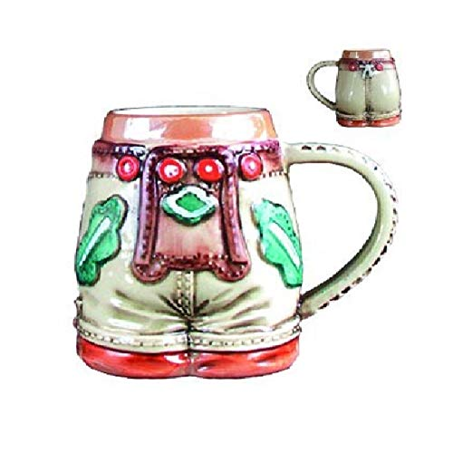 Lederhosen German Stoneware Shot Cup Made in Germany One Shot Glass New