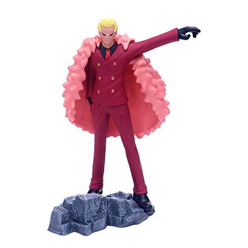 SHUMEISHOUT El nuevo modelo Fans One Piece 24Cm Donquixote Doflamingo, pistola resina juguete figura para la colección
