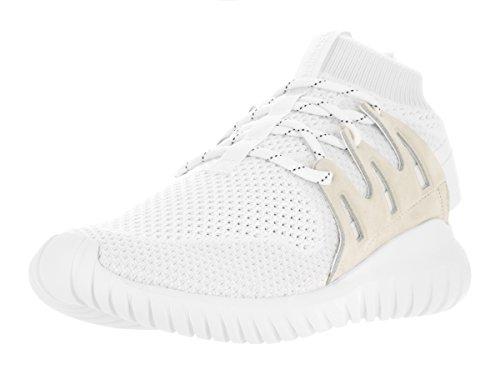 adidas Tubular Nova Primeknit - Zapatillas de Running para Hombre, Blanco (White/Vintage White/White), 11.5 D(M) US