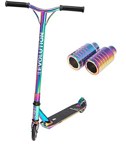 Stunt/Freestyle Scooter, Roller, Tretroller, Cityroller Raven Evolution Master 110mm + Pegs Set Neochrome RSM200 (Neochrome)