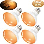 4 Pieces 120V 100W Reptile Heat Bulbs Reptile Infrared Basking Spot Lamp Pet Reptile Light Bulb Heating Infrared Bulb Reptile Heat Lamp Pet Heating Lamp for Reptile and Amphibian