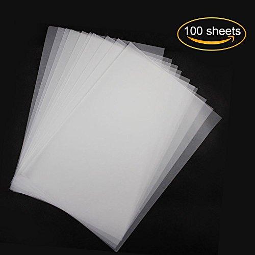 miteux transparant papier, bedrukbaar, 100 vellen, wit, DIN A4, 70 g/m², hoge resolutie, fijne kwaliteitspapier om te knutselen, schetsen en tekenen