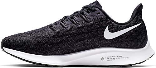 Nike Air Zoom Pegasus 36 - Zapatillas de atletismo para mujer, Black White Thunder Grey, 37 EU