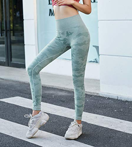 Yoga Pants For Women,Women Fashion Camouflage Fitness Leggings High Waist Slim Elastic Gym Yoga Trousers Sports Running Quick-Drying Pants Sportswear