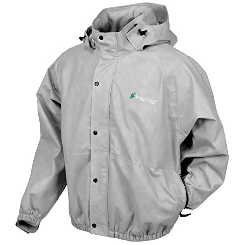 Frogg Toggs Classic Pro Action Rain Jacket with Pockets, Cloud Grey, Size X-Large