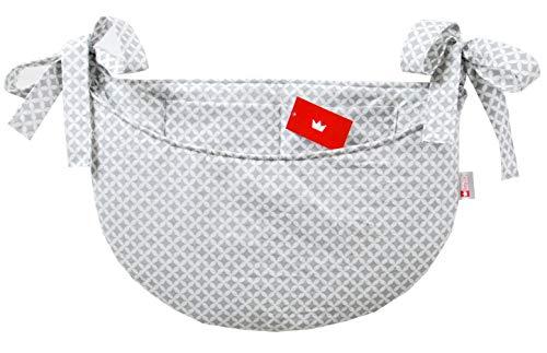 BABYLUX Babybetttasche Organizer BETTTASCHE Spielzeugtasche Tasche Babybett (106. Marokko Grau)