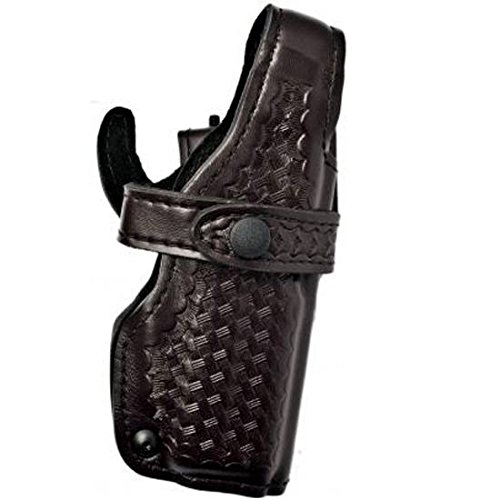 Safariland 070 Level III Retention Duty Holster, Mid-Ride, Black, Basketweave Right Hand Sig P220, P226