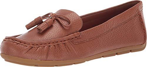 COACH Minna COH Leather Loafer Saddle 9