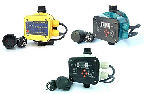 chm Pumpensteuerungen in verschiedenen Ausführungen mit Trockenlaufschutz. Schaltleistung bis 2,2 kW. Geeignet für Gartenpumpen, Tiefbrunnenpumpen, Hauswasserwerke usw. (DSK-18)