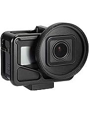 EyeCrab GoPro HERO 7/6/5/4/ 保護フレーム 保護ケース アクションカメラアクセサリー ハウジングケース 52mm UVレンズ保護キャップ アルミニウム合金 アクセサリー 耐衝撃 10M防水 (52MM・UVレンズ)