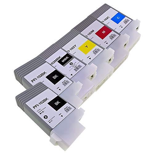 PFI-102 計6本(MBK/BK×2/C/M/Y) CANON キャノン 互換 インクカートリッジ (PFI 102 インク)(ICチップ搭載/残量検知対応)【TOP TANK/1年保証】