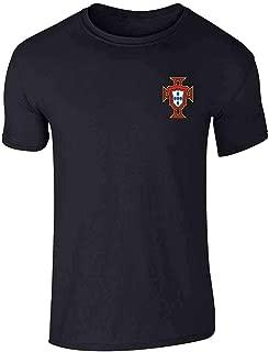 Portugal Soccer Retro National Team Football Graphic Tee T-Shirt for Men