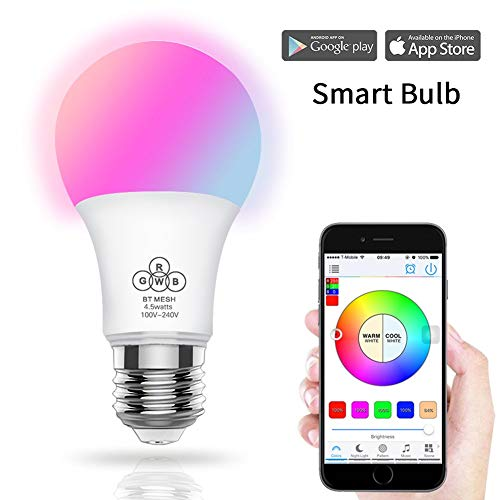 ADDG Wi-Fi Inteligente RGB E27 Regulable LED de música inalámbrico Bombilla