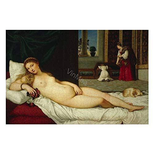 1000 Pieces Puzzles For Adults Titian Venus of Urbino Jigsaw Puzzles - Wood Difficult Puzzles Game For Home Wall DIY Decor
