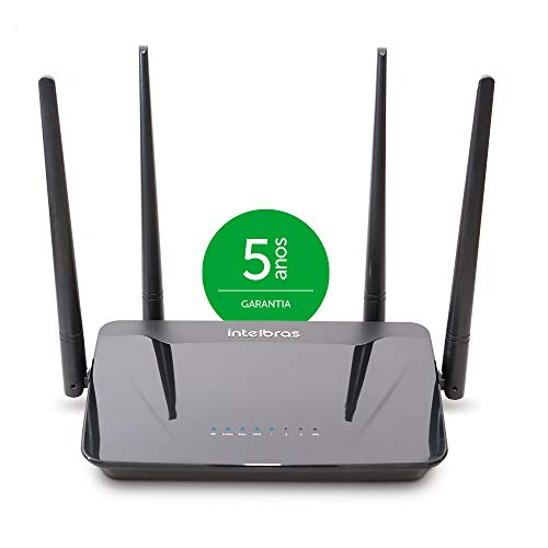 Wireless Dual Band Action R 1200, Intelbras, Roteadores, preto