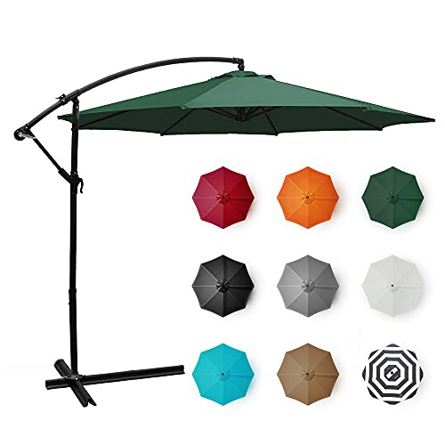 BELLEZE Patio Offset Cantilever Umbrella 10-Feet...
