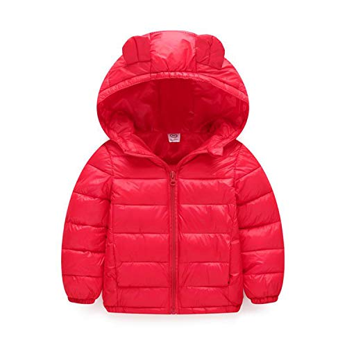 Guy Eugendssg Infant Coat Autumn Winter Baby Jackets for Baby Boys Jacket Kids Warm Outerwear Coats Red3 18M