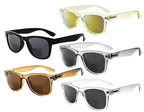 Eyekepper Clásico Bifocales Gafas De Sol Para Mujeres 5 Paquete Mix color +1.50