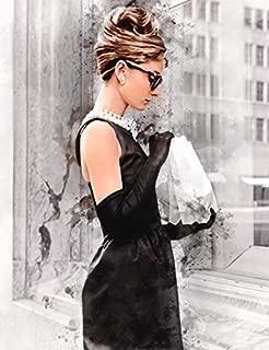 Audrey Hepburn in Profile Breakfast at Tiffany's Watercolor Art Print