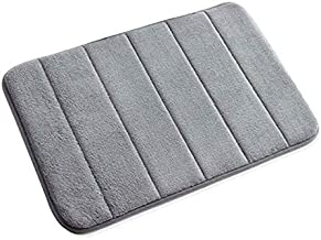 QWER Bath Mat Bath Rugs Anti-Slip Memory Foam Non-Slip Bathroom Mat Soft Bathmat Water Absorbing Carpet