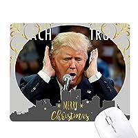 アメリカの大統領は、面白い面白いトランプ クリスマスイブのゴムマウスパッド