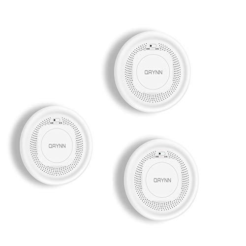 Detector de Humo inalámbrico WiFi,Alarma de Humo de Doble Sensor,Alarma de Incendio Inteligente con tecnología fotoeléctrica para la Cocina Dormitorio del hogar,Control de aplicación Smart Life/Tuya