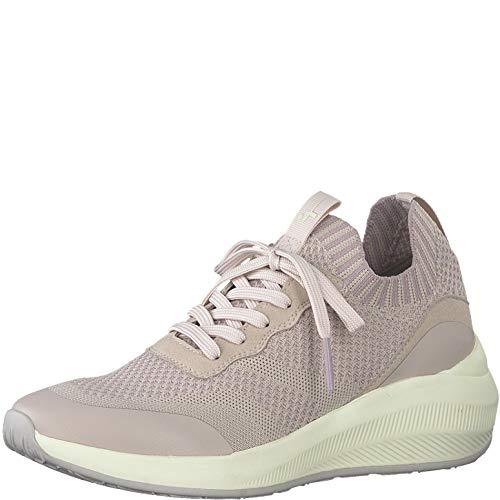 Tamaris Damen Schnürhalbschuhe, Frauen sportlicher Schnürer,lose Einlage, Sneaker schnürer freizeitschuh Wedge keil Lady,Pale Rose,39 EU / 5.5 UK