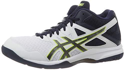 Asics Gel-Task MT 2, Indoor Court Shoe Mens, White/Gunmetal, 46 EU