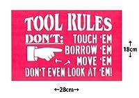 ステンシルシート 28x18cm TOOL RULES