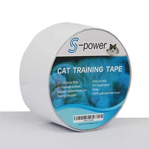 S-Power Kratzfestes Klebeband für Katzen, einfach durchsichtig, doppelseitiges Klebeband für Türen, Couch, Möbel und Leder-Kratzschutz 6,3 cm x 4,5 m