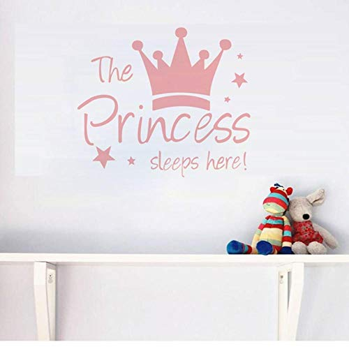 Wandaufkleber Wand Dekoration TV Hintergrund Deko - Crown Star Kinderzimmer Wandaufkleber-Großes Rosa