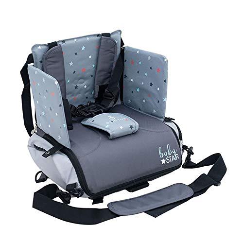 Danielstore-Silla bolso Bebe-Alzadores de asiento + Regalo de un Babero (Babys gris)