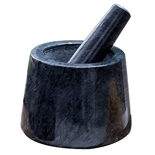 SYue Sistemas de tazón de mortero de mortero, Olla de Piedra Premium de mármol para cocinar ajo Especias Hierbas lavabinas rectificadoras Especias Hierba Comida y ajo