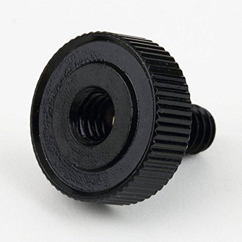 SZXCX Adaptador de trípode de Zapata Corta de 1/4 Tornillo para cámara/trípode/Soporte de Flash Sujetadores Macho a Hembra Tuercas Aluminio - Plata