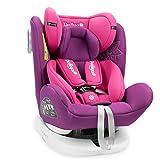 Daliya Sedion Kinderautositz 0-36KG 360° Pink, mitwachsender Autositz, Kindersitz GR. 0+1+2+3, Isofix Fix, Top Tether, 5 Punkt Sicherheitsgurt, incl. Sonnenverdeck, 2x Isofix Einbauhilfe