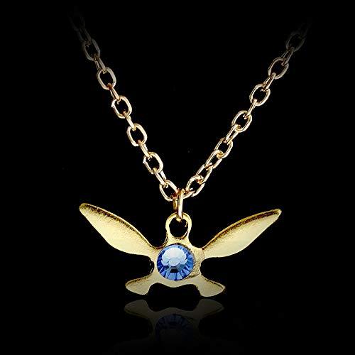 DTKJ Legend of Zelda Navi Halskette Gold Silber Farben Libelle Schmetterling Choker Halskette Anhänger Kragen Mujer Für Männer Frauen 2 Stücke