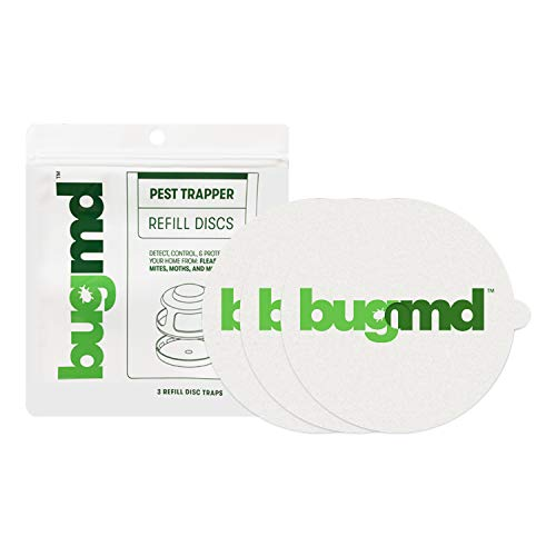 BugMD Flea Trap Refill Disc - Pest Trapper, Traps Pest Control Sticky Pad, for Bugs Fleas Mosquitos, Non Toxic Odorless Eco-Friendly Family and Pet Safe, 3 Per Pack