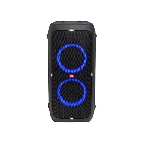 JBL PartyBox 310 MC in Schwarz – Trag- und rollbarer Bluetooth Party-Lautsprecher mit Lichteffekten – Spritzwassergeschützte, mobile Karaokebox mit Mikrofon