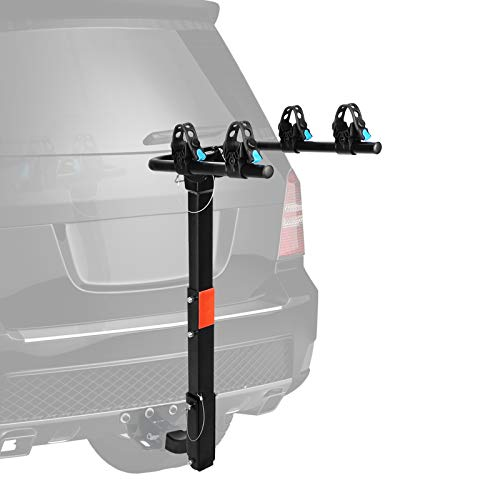 """XCAR 2-Bike Bicycle Hitch Mount Carrier Rack Heavy Duty for Cars, Trucks, SUV's Hatchbacks Fit for 2"""" Hitch Receiver"""
