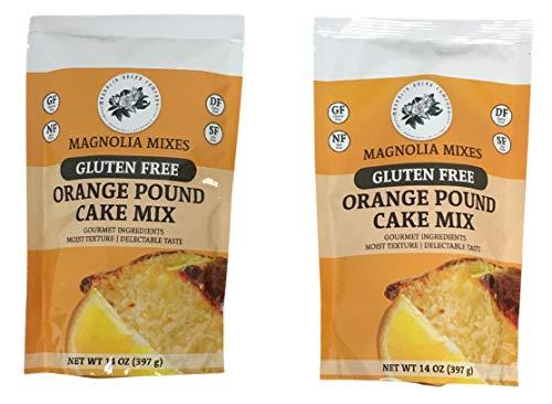 Magnolia Mixes Gluten Free Orange Pound Cake Mix (2 Pack)