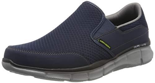 Sketchers Men's Equalizer Persistent Low-Top Sneakers - Blue (Navy Grey), 8 UK