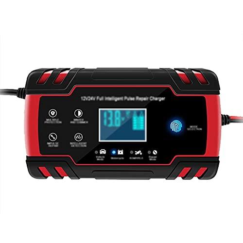 PWE-Inteligente Automático De 8A, Cargador 12V Y 24V, Mantenedor Desulfatador De Batería para Baterías De Plomo