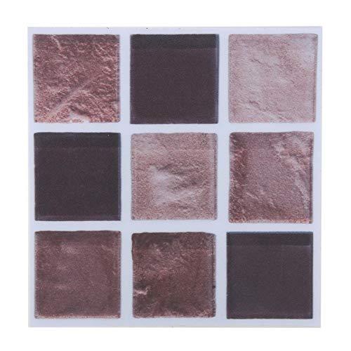 Pegatinas Autoadhesivas para Azulejos de Mosaico de 18 Piezas, Pegatinas de Transferencia de Azulejos Impermeables, Azulejos de Pared, Escaleras, Piso, para Baño, Cocina (10 Cm * 10 Cm)(MTS009)