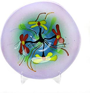 Murano Art Collection European Art Glass Napoli Centerpiece Plate